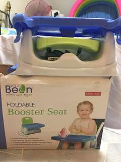 Foldable booster seat