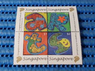 2X Singapore Miniature Sheet Singapore Arts Festival Stamps