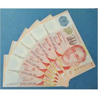 CLEARANCE SALES: Singapore Portrait Polymer $10 banknotes with Star Symbol