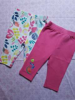Two pairs of pants for baby girl