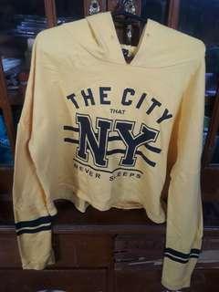 Crop top Jacket with hoodie