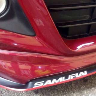 Samurai Rubber Lip Skirt w Sporty Look universal easy to install, prevent bumper dirty
