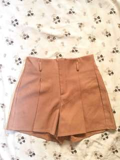 Brown High-Waisted shorts
