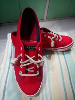 Sperry Seacoast Logo Red Sneakers