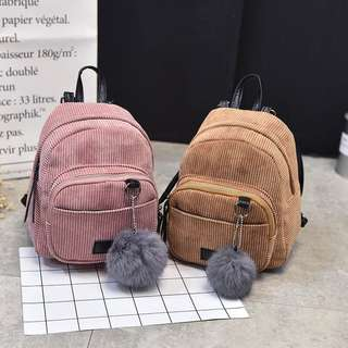 baby pink small backpack