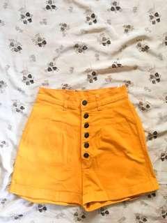 Orange High Waisted Shorts