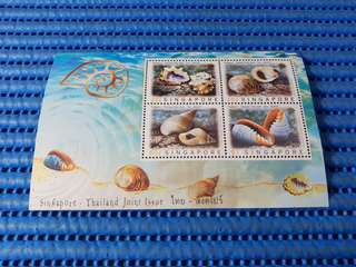 4X Singapore Miniature Sheet Singapore Thailand Joint Issue Stamps