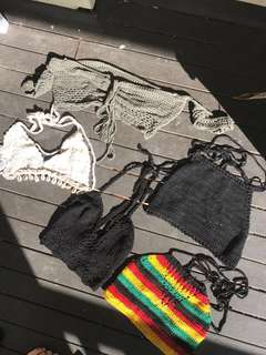 6 crochet tops $20 // or $5 each