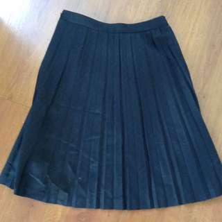 Pleated Ann Taylor LOFT Office Skirt