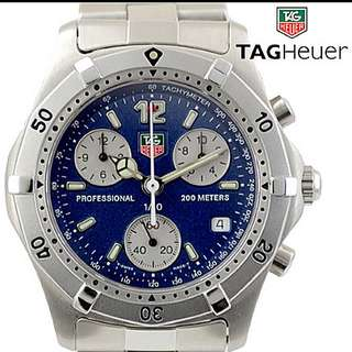 Authentic Tag Heuer Professional 200 m - blue