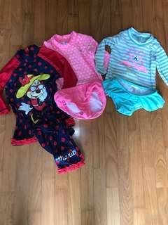 Toddler girl swim wear for 24 months and 3-4 years