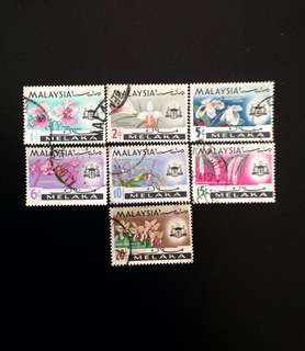 Malaysia 1965 Malacca Orchids Def 7V Set Used (0411)