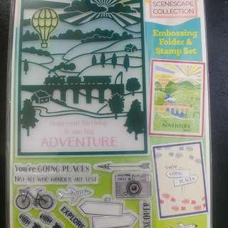 Embossing Folder & Stamp Set