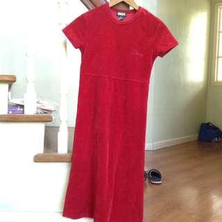 DKNY velvet maxi dress