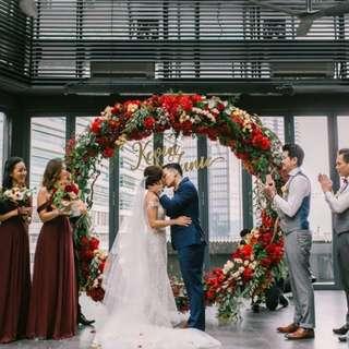 Wedding Decoration Solemnisation Circular Floral Arch