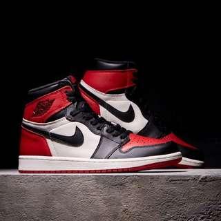 """Air Jordan 1 """"Bred Toe"""" Retro High OG GS"""