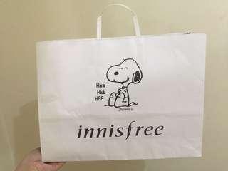 Innisfree x Snoopy Paper Bag