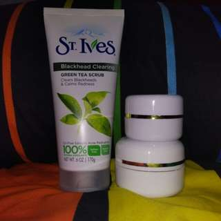 SHARE IN JAR ~ ST.IVES Blackhead Clearing Greentea Scrub