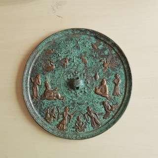 China Ancient Bronze Mirror (dia. 21.5cm)