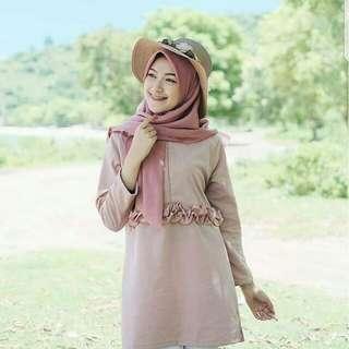 Inez blouse mocca (RZ190604)