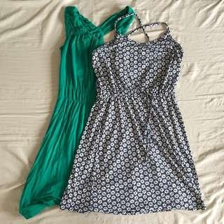 Buy 1 Get 1: Uniqlo Boho Dress + Green Boho Dress
