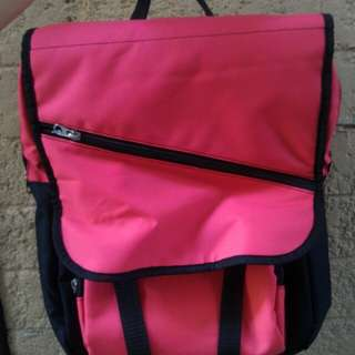 REPRICED! Black & Pink backpack zipper