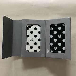 🚚 agnes b. 點點 iPhone 4手機殼 黑白兩色一組