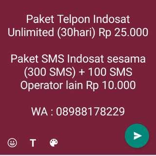 Paket Indosat Telpon dan SMS