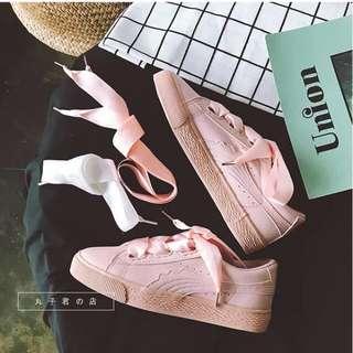 Pink Ribbon Sneaker Shoes