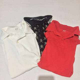 REPRICED UNIQLO polo shirt white and red only!