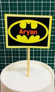Batman Cupcake toppers (Customised)