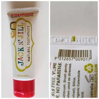 Jack N' Jill Natural Toothpaste (Strawberry)