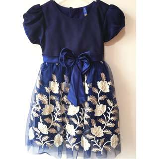 Girl's Fancy Dress, Blue and Gold (3-4 year old)