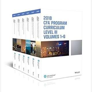 2018 CFA Level 3 Textbooks