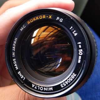 Minolta 50mm F1.4