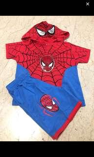 Spiderman Shorts Set