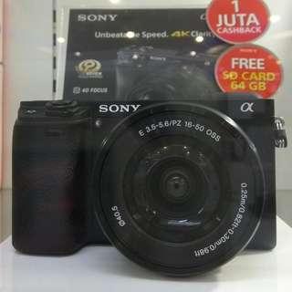Sony ILCE-6300/BL DP 0% Cukup Admin 199.000 Tanpa Kartu Kredit