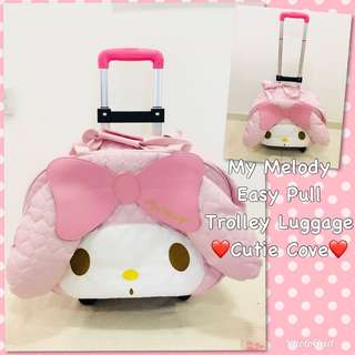 *NEW IN IN SG* My Melody Easy Pull Trolley Luggage