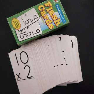 Flash Cards Multiplication 0-12 for ages 8 & up