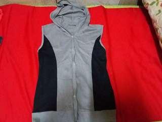 Cotton hoodie sleeveless