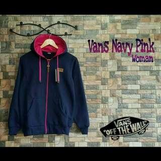 Vans navy pink jacket hoodie sweater