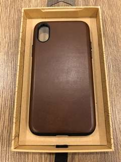 iPhone X Nomad Rugged Leather Case