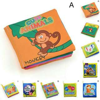 Brand New Soft Cloth Baby Kid Intelligence Development Learn Picture Cognition Book