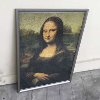 🆕 EuroGraphics Mona Lisa 1000 Piece Puzzle Game (Built & Complete with Frame)