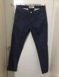 Topman Skinny Chino Pants (Navy Blue)