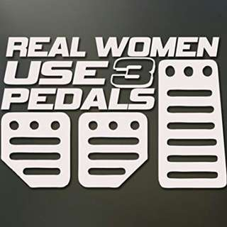 Car Sticker Vinyl Decal Real Women Use 3 Pedals