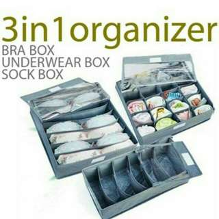 FIBER BOX ORGANIZER 3IN1 (TANPA TUTUP)