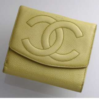 [預訂] Vintage CHANEL Wallet - Yellow