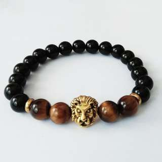 Sales $13 Tiger Eye Onyx Bracelet, Unisex Bracelet for Men And Women