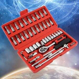 [PO290]46 Pcs Car Repair Tool Combination Set Spanner Screwdriver